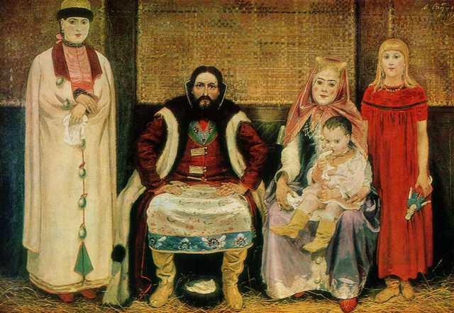 А.Рябушкин. Семья купца в XVII веке. 1896