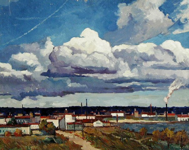 Валентина Авдышева. Осеннее небо. 1961.