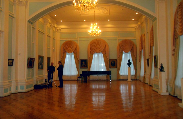 процесс съемки 3d-панорамы в Русском зале музея