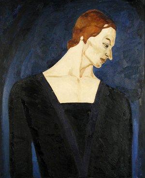 """Е. Пехова. Валерий Панов в балете """"Жизель"""". 1970. Холст, масло."""