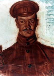 Шухаев В.И. Портрет офицера. 1916 Бумага, сангина, карандаш.