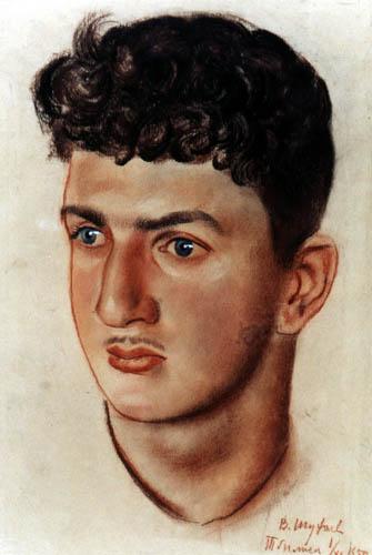 Шухаев В.И. Портрет юноши. 1950 Бумага, сангина.