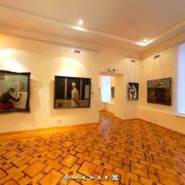 Фрагмент панорамы зала карельского искусства