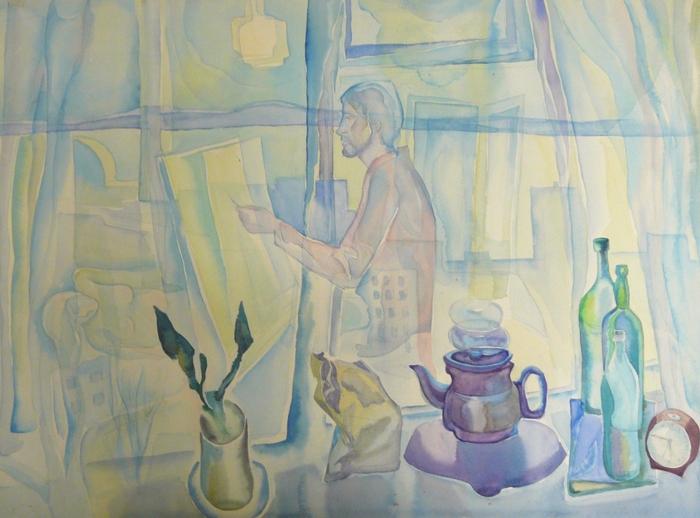 Ю.Высоковских. Автопортрет. 1987