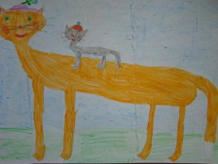 1 место Шабаева Надежда. 7 лет. Рыжая кошка