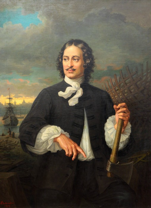 А.Толяндер. Портрет Петра I. 1874