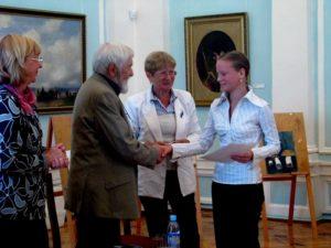Награждение победителя - I место Наталья Васинькина