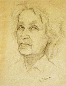 Черных И.В. Автопортрет. 1980 Бумага, карандаш.
