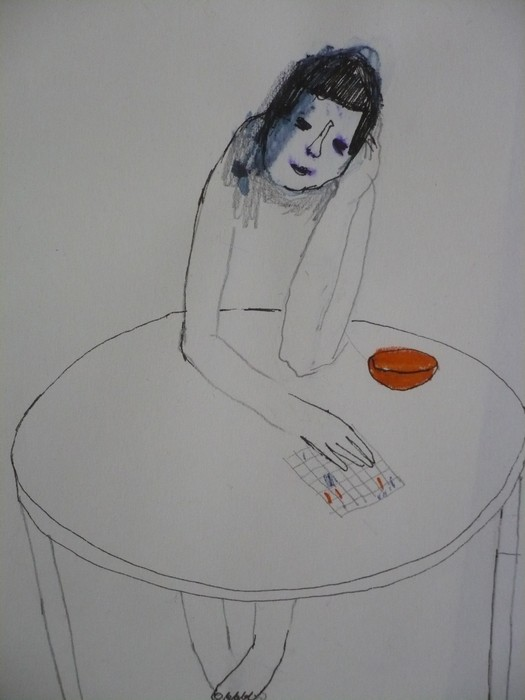 Мари Ойкаринен. За столом