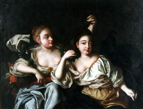 Портрет дочерей Петра I.Неизвестный художник рубеж XVII-XIX