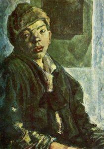 Лазарь Чинёнов в образе беспризорника на картине Ф. Богородского