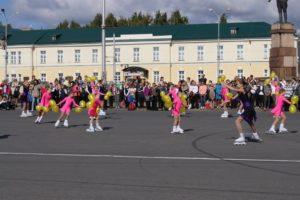 Праздник на пл.Кирова в рамках открытия выставки