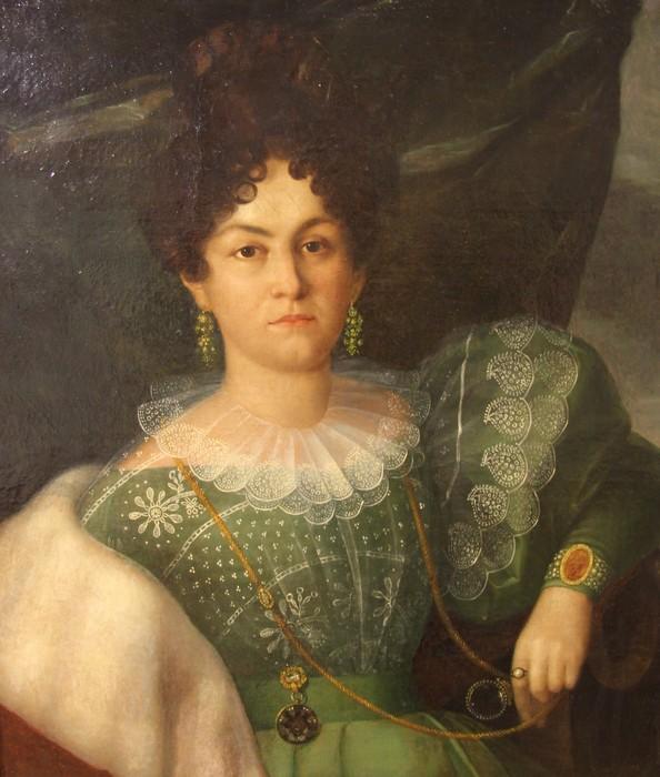 Коненков С. Т. Америсканская актриса Айна Клер, мрамор, дерево