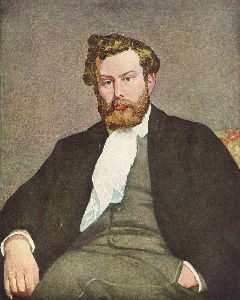Портрет Альфреда Сислея. О. Ренуар