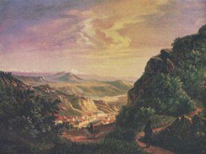 Вид Пятигорска. Масло. 1837 г.