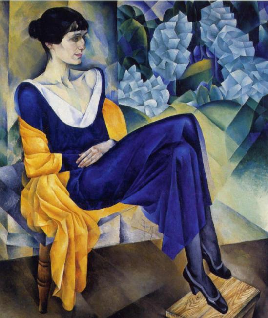 Портрет поэтессы А. А. Ахматовой. 1914г