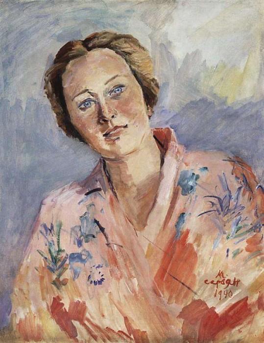 Портрет балерины Галины Улановой. 1940. МС