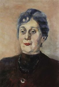 Портрет поэтессы Анны Ахматовой. 1946, ЧС