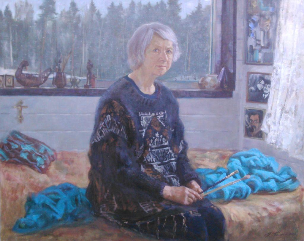 Портрет мамы, Эйла Тимонен, Поляков, художники карелии
