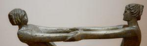 скульптура, двое, пара
