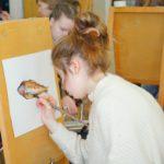 акварель, рыба, краски, рисование