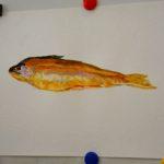 рыба, акварель, форель