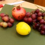 натюрморт, акварель, фрукты