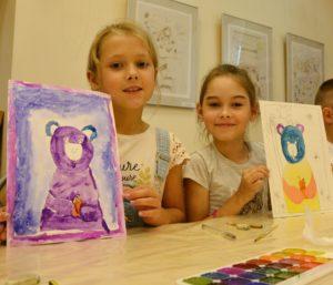 музейная акаедмия, мастер-класс, рисунок, мишка, творчество, рисование