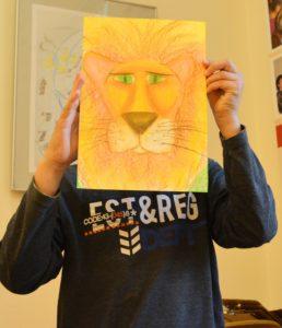 музейная академия, лев, пастель, рисунок, мастер-класс