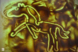 рисование на песке, пескотерапия, конь