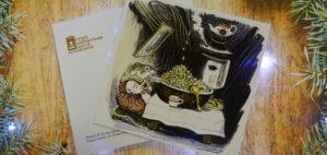 музейная открытка, год мыши, новый год