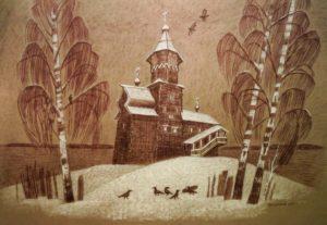 нелли григорьева, художники карелии, успенская церковь, кондопога