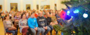 концерт, елка, зрители, русский зал