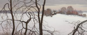 поленков, зима, горизонт