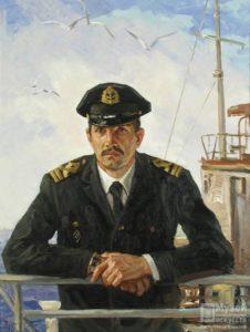 Козлов А.Ф. Портрет штурмана А.Н. Красавцева. 1983