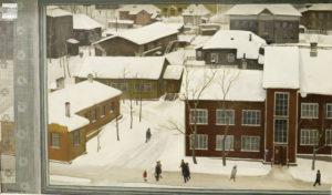 чекмасов, вид из окна, карельское искусство, зима, пейзаж