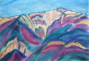 маргарита пермякова, горы, акварель, крым
