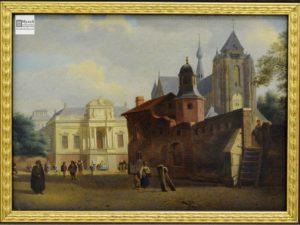 ян хейден, городская площадь, ведута, западно-европейское искусство