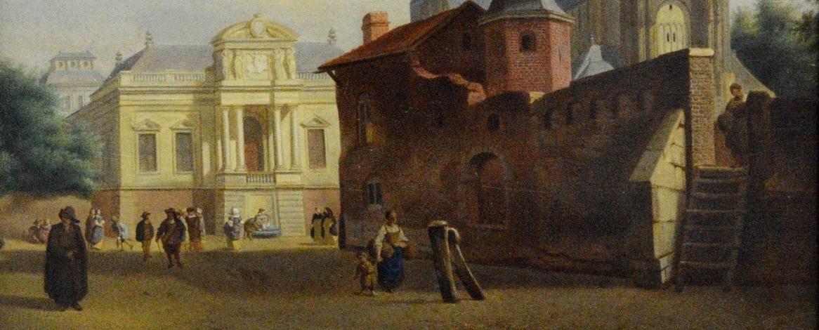 ян хейден, городская площадь, ведута, западно-европейское искусство, горизонт