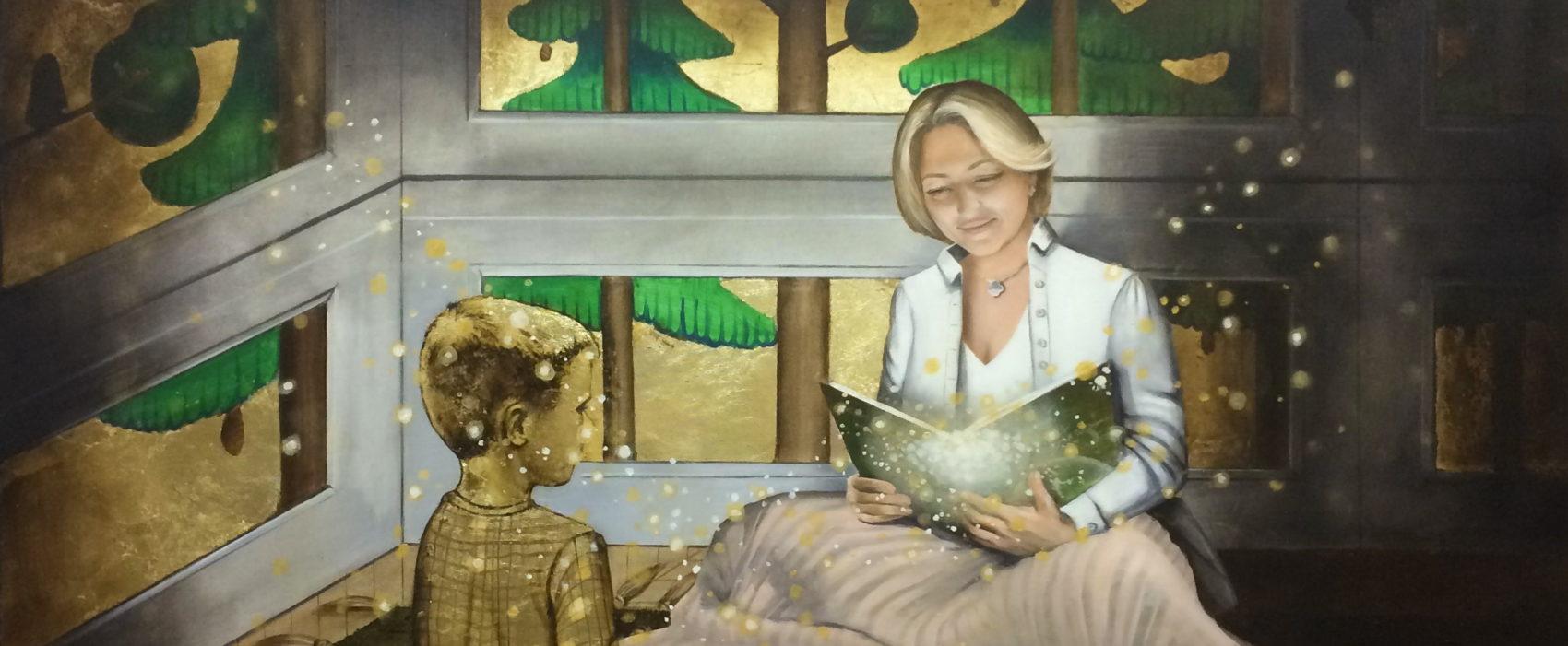 маленький принц, анна красная, горизонт, чтение, мама
