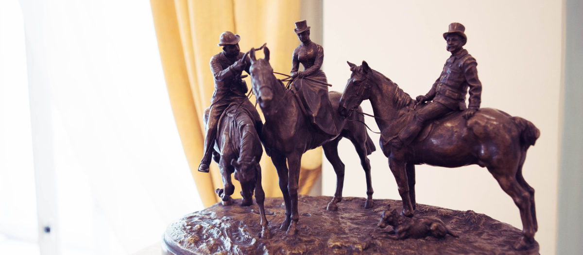 лансере, русское искусство, скульптура, лошади, горизонт, три всадника