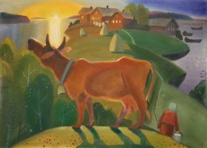 юлия коросова, природа, север, пейзаж,корова