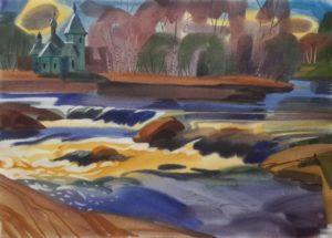 юлия коросова, природа, север, пейзаж, река, церковь