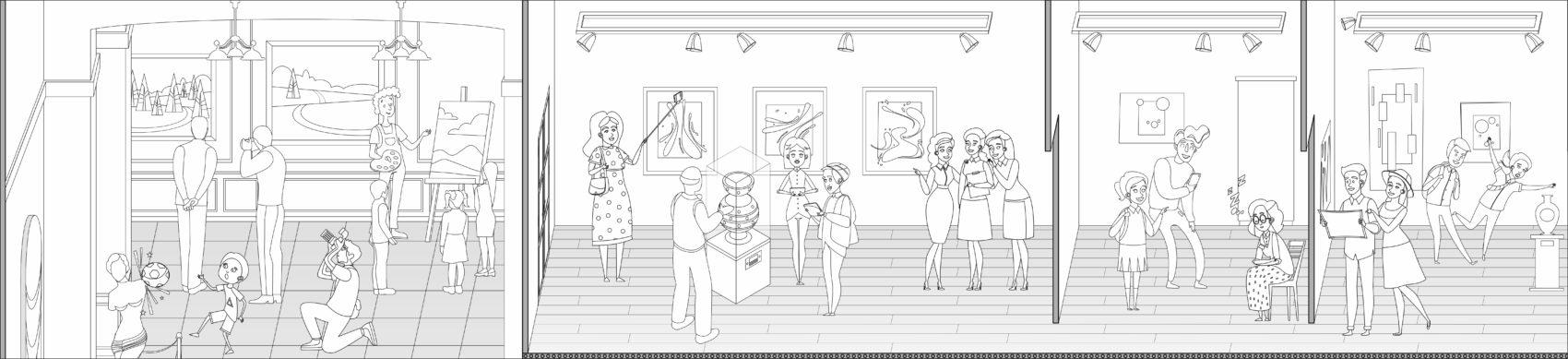 раскраска музей часть 7