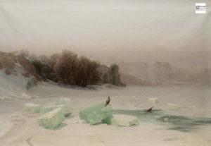 мещерский, заготовка льда, русское искусство, пейзаж