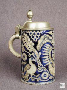 Пивная кружка с крышкой. III четверть XVIII. Германия