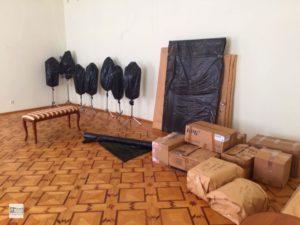 подготовка к ремонту, запаковка произведений