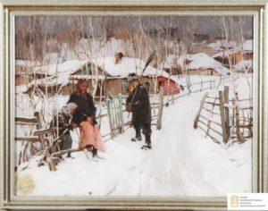 Колесников С.Ф. Зима. Околица
