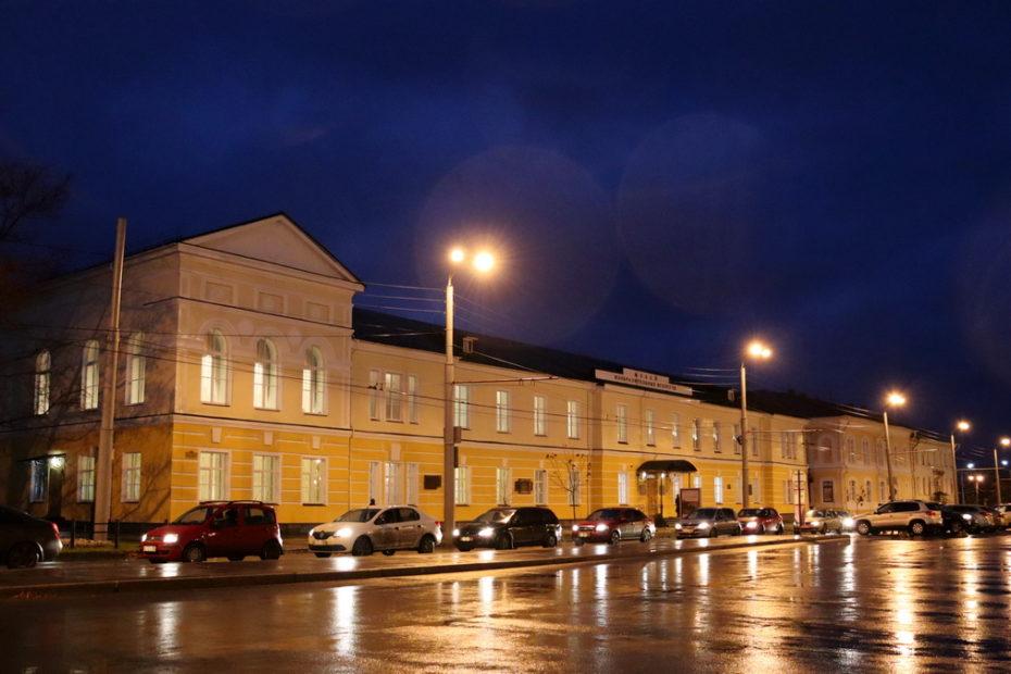музей, ночь, горизонт