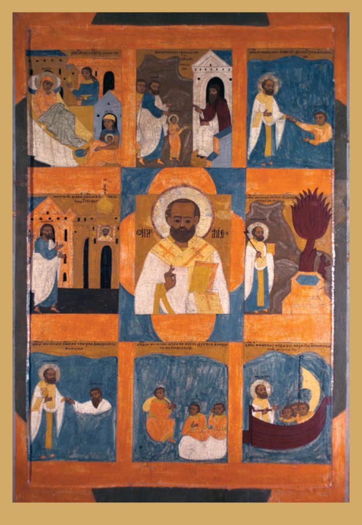 Святой Николай Чудотворец с житием